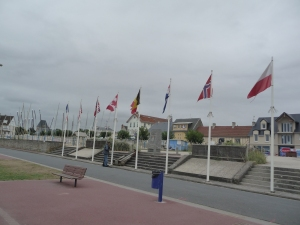 The Monument at Langrune-sur-Mer, one stop on the pilgrimage that so many make to Normandy's beaches.