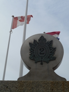 Part of the Monument to the troupes at the pillbox.