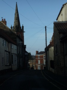 At the bottom of Apiary Gate you can see the Methodist Church spire and Bondgate St.