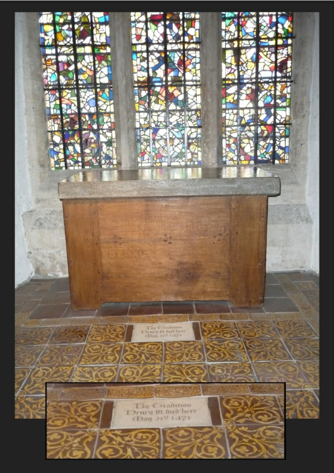 "The Chapel at the Tower of London. ""By Tradition Henry VI died here May 21st 1471"""