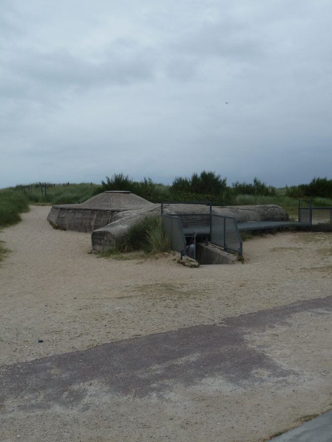 This observation point was just one accessed through a rabbit warren of tunnels that made up the overall German bunker.