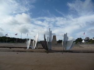 Les Braves and the Omaha Beach Memorial.