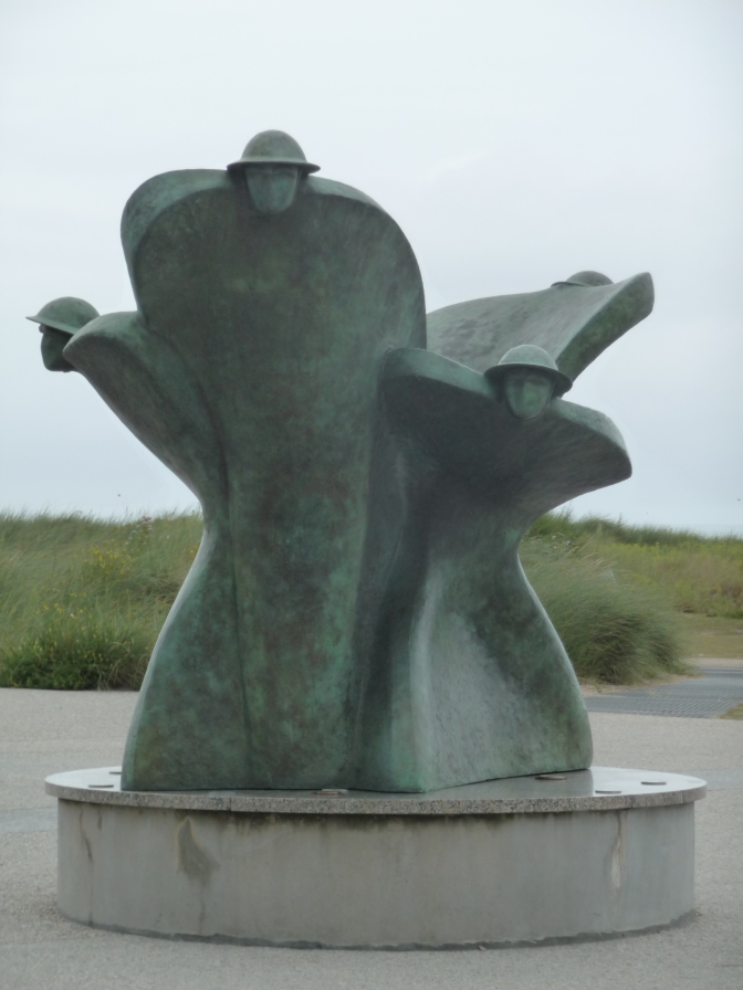 Remembrance and Renewal - the statue that greets visitors to the Juno Beach Centre.