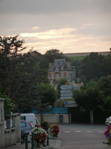 The chateau above the town, the Chante-Clair.