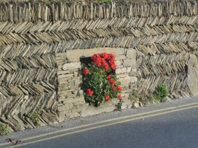 The zigzag of this wall, made from Cornwall slate, caught me from the moment I saw it.