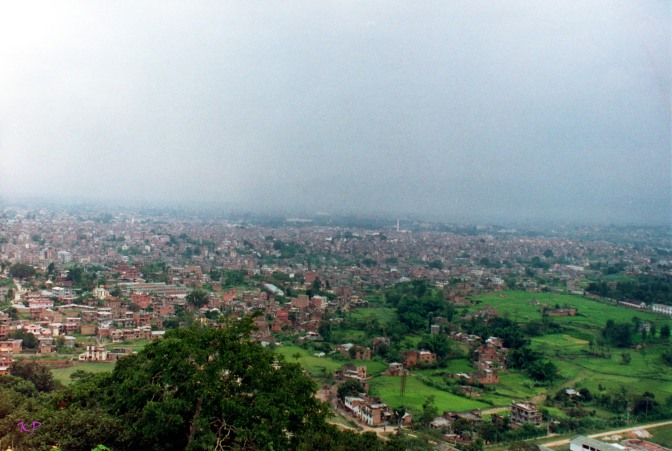 Kathmandu in 1992, as seen from Swayambunath.