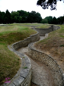 The trenches of both Germans and Canadians were preserved in concrete. In places they are less than 100 feet apart.