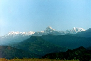 Taken on the fourth morning my trek in the Himalayan Hills, at almost 11,000', Annapurna 2 is so close I could touch it.