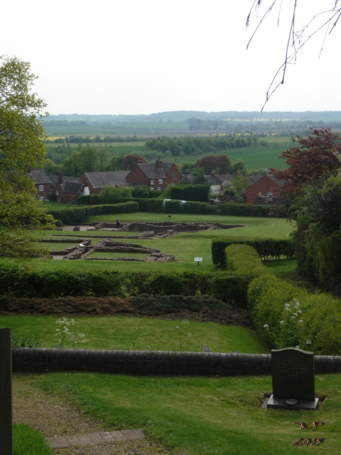 Over the graveyard wall and the church wall; over the Roman Walls and the 18th century Walls; over  the fields beyond the Wall.