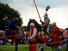 A break in the joust.