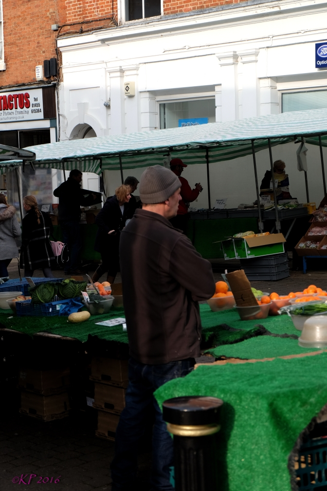 Earlier, his corner stand was filled fruit and veg,