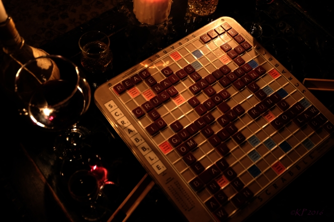Port, Wine, Scotch, Scrabble and Candlelight. There are several reflections in this.