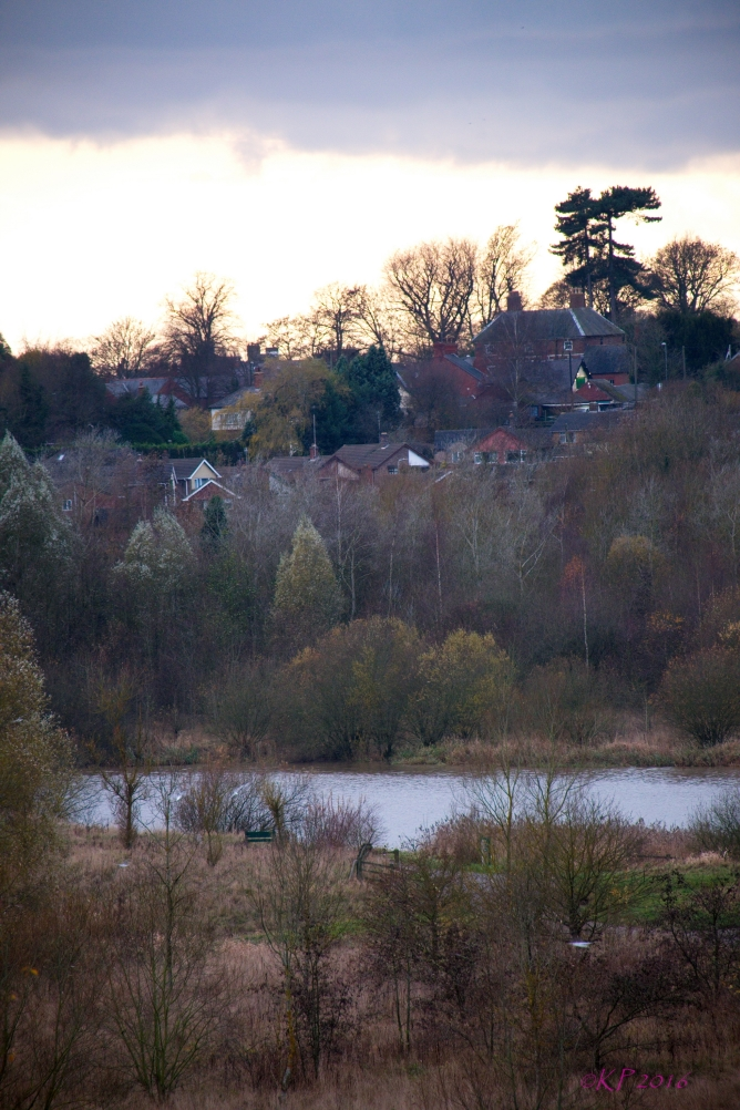 The village above the lake is so peaceful in the late afternoon light.