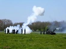 Canadian guns fire over Vimy Ridge for the first time in 100 years.