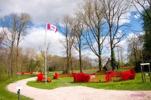 The Canadian Poppy memorial.