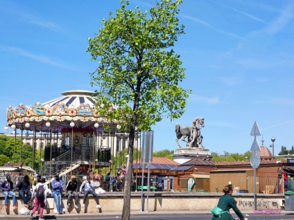 Carousel across the road from the Eiffel Tower
