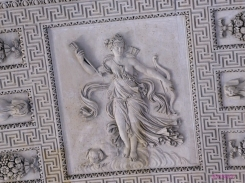 Detail of the ceiling in the Greek, Etruscan and Roman Antiquities room, ground floor, Sully Wing