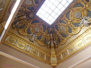 Entering the Italian Paintings gallery, look up.