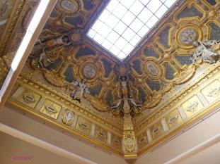 Entering the Italian Paintings gallery, look up.