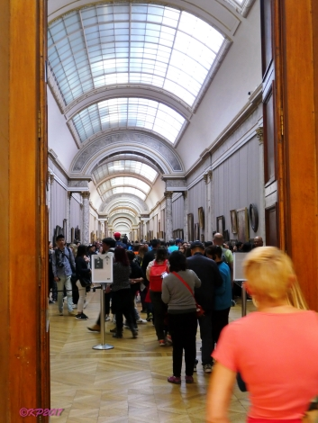 La Grande Gallerie, fabulous, which we passed through in search of the Mona Lisa.