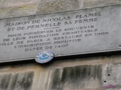 """""""To conserve the memory of their charitable foundation the City of Paris in 1900 restored the ancient inscriptions of 1407."""""""