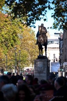 Up Whitehall toward Trafalgar Square.