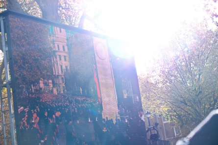 The shot from the Cenotaph showing where we were standing ... somewhere.