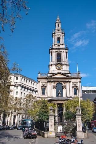 St Mary Le Strand Church, built 1714-1723